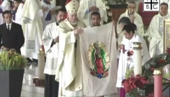 Arzobispo de México celebra misa en Basílica de Guadalupe
