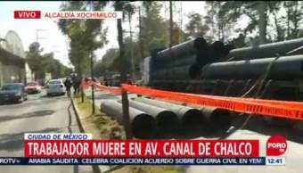 Muere trabajador de obras públicas en Avenida Canal de Chalco