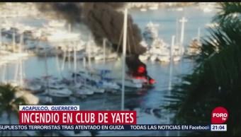 Incendio Club De Yates Acapulco Deja Lesionados