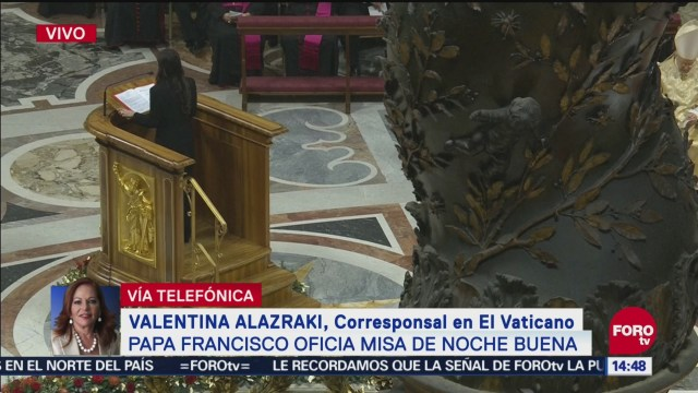 Papa Francisco celebra misa de Noche Buena