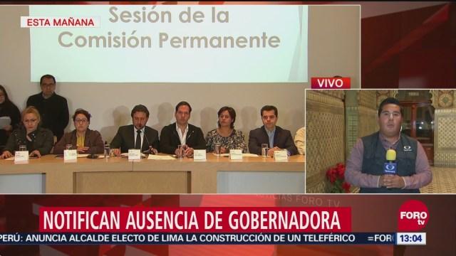 Notifican a Congreso de Puebla ausencia de gobernadora Érika Alonso