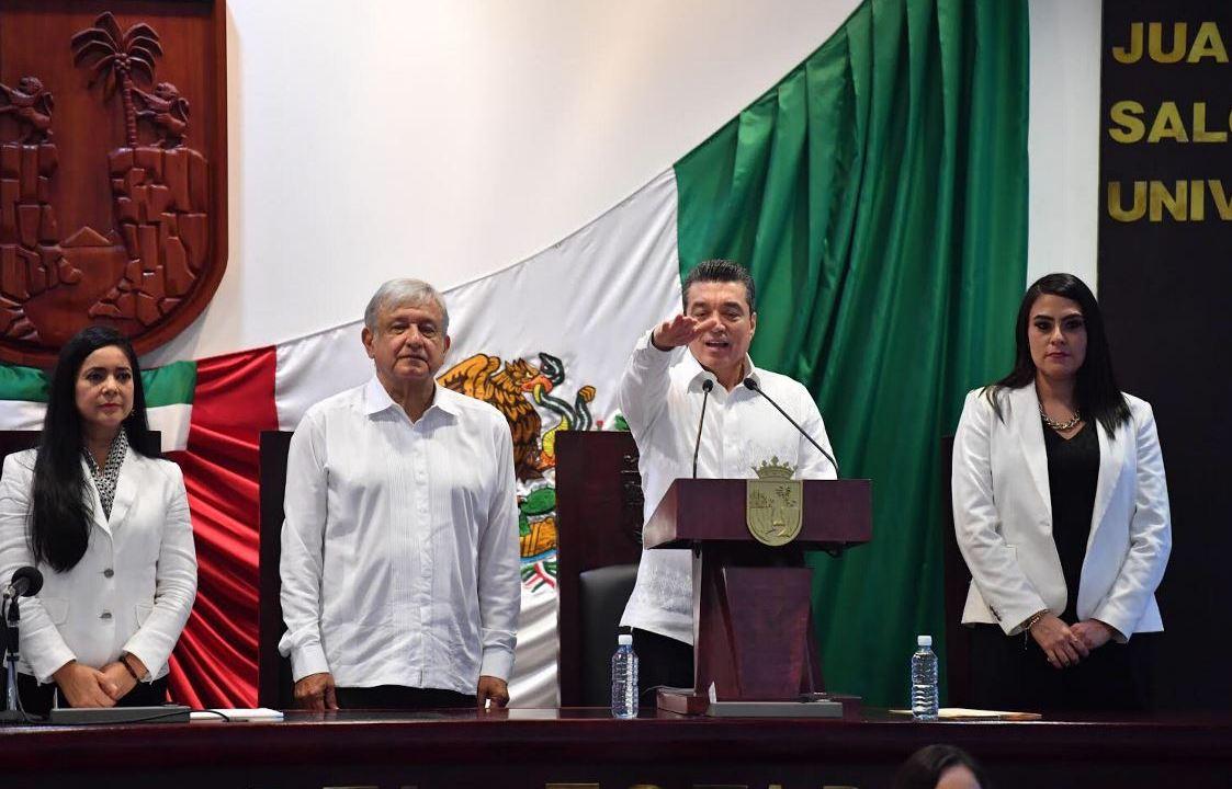 Rutilio Escandón protesta como nuevo gobernador de Chiapas