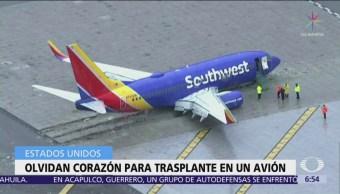Olvidan corazón humano para trasplante en avión de Southwest