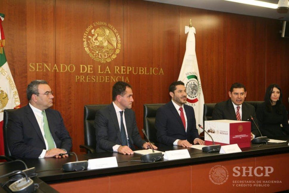Senado recibe paquete económico 2019 del Gobierno federal