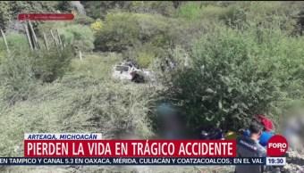 Pierden La Vida Trágico Accidente Artega Michoacán