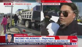 Policía de Naucalpan repliega a manifestantes