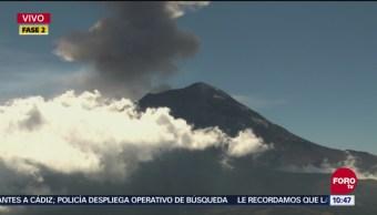 Popocatépetl Presenta Exhalación De Vapor De Agua, Gas Y Ceniza, Volcán Popocatépetl, Vapor De Agua, Gas, Ceniza