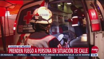 Prenden fuego a hombre en situación de calle en Tepito, CDMX