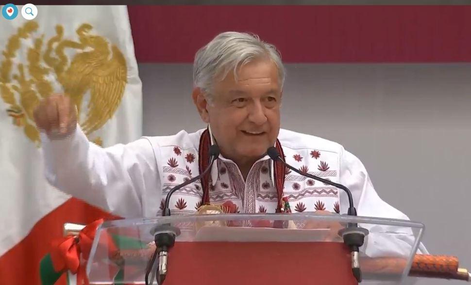 El presidente de México, Andrés Manuel López Obrador, presentó el Programa Nacional de los Pueblos Indígenas. (Noticieros Televisa)