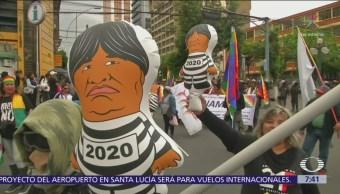 Protestan en Bolivia contra la reelección presidencial de Evo Morales