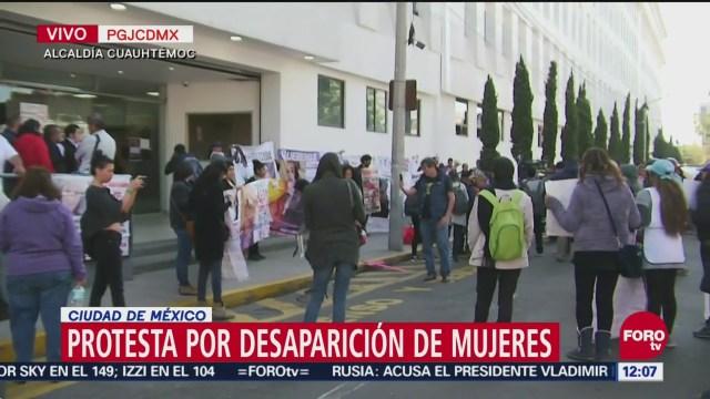 Protestan en CDMX por mujeres desaparecidas