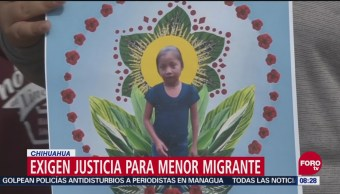 Protestan En Chihuahua Por Muerte De Niña Guatemalteca En Eu, Chihuahua, Cruce Internacional De Santa Fe, Caso De Jacqueline, Niña Guatemalteca, Estados Unidos