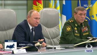 Putin anuncia prueba de nuevo misil