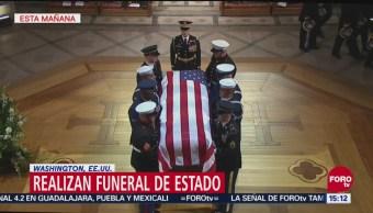 Realizan funeral de estado de George H.W. Bush