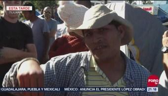 Rechazan migrantes en Tijuana ser reubicados en 'El Barretal'