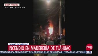 Reportan Incendio En Maderería En Tláhuac, Incendio, Maderería, Tláhuac, Ciudad De México, Alcaldía Tláhuac
