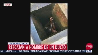 Rescatan a hombre en un ducto de grasa de restaurante en California