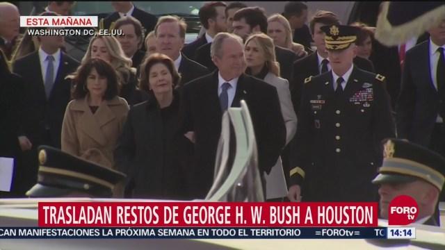 Restos de George H. W. Bush son trasladados a Houston para último adiós