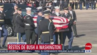 Restos mortales de George H.W. Bush van a Washington
