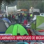 Retiran campamento improvisado de migrantes en Tijuana