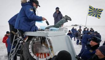 nave tripulada rusa soyuz ms-09 aterriza en kazajistan