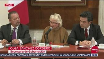 Sánchez Cordero anuncia visitas sorpresa a estancias para migrantes