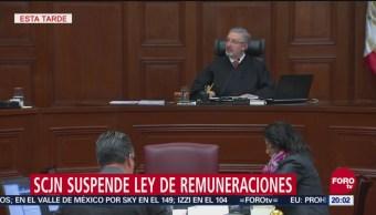 SCJN Suspende Ley De Remuneraciones Sueldos Funcionarios