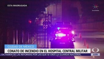 Se registra conato de incendio en el Hospital Central Militar, CDMX