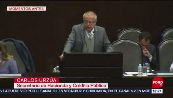Secretario de Hacienda comparece en la Cámara de Diputados por Paquete Económico
