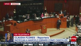 Senado de República aprueba en comisiones a Marcelo Ebrard como canciller
