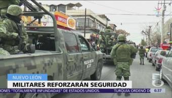 Soldados seguirán patrullando calles de Nuevo León