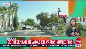 Sonora presenta nevadas en varios municipios