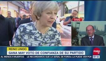 Theresa May gana el voto de confianza de su partido