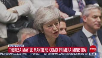 Theresa May tiene la confianza de su partido: sigue como Primera Ministra
