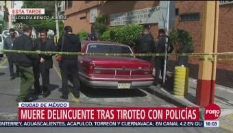 Tiroteo en Benito Juárez culmina con muerte de asaltante