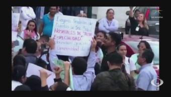 Trabajadores Hospital Retienen Esposa Gobernador Tabasco