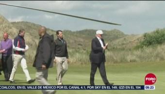 Trump Emplea Inmigrantes En Campo De Golf, Presidente, Donald Trump, Emplea A Inmigrantes, Campo De Golf