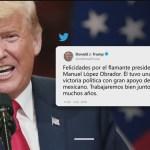 Trump felicita a López Obrador