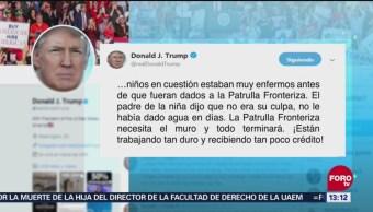Trump habla sobre muertes de niños migrantes
