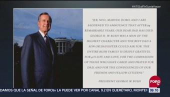 Trump lamenta la muerta de George H. W. Bush