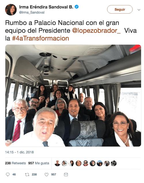 Viaja Gabinete AMLO Palacio Nacional Fotografía