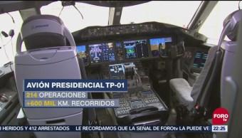 Último recorrido por avión presidencial