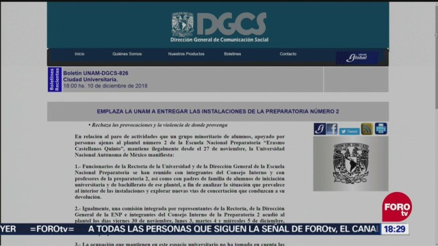 UNAM condena actos violentos en Ciudad Universitaria