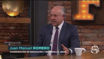 Juan Manuel Romero, coordinador de Innovación y Desarrollo de la UNAM, habla sobre el trabajo de incubación de empresas creadas por estudiantes e investigadores de la universidad