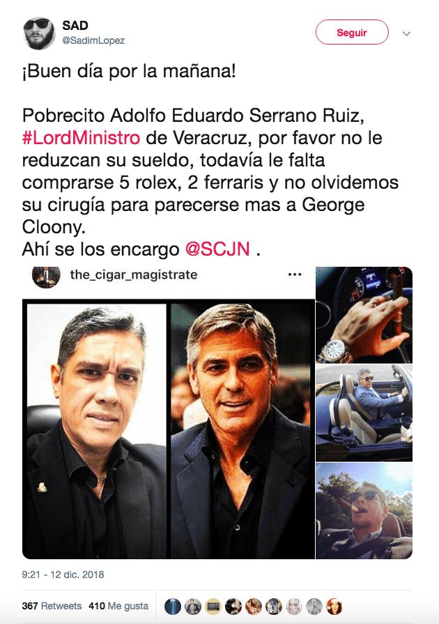 Usuarios de Twitter descargaron fotografías de los perfiles de Serrano Ruíz y las redistribuyeron, viralizándolas (Twitter @SadimLopez)