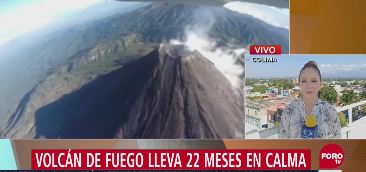 Volcán de fuego de Colima, en calma durante 22 meses