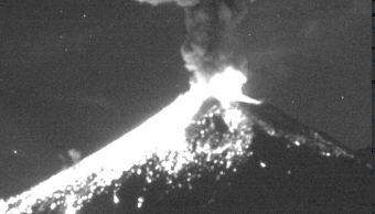 popocatepetl registra explosion de dos mil metros de altura