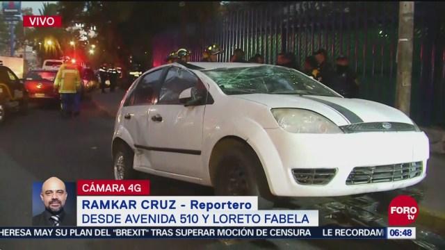 Vuelca vehículo particular en San Juan de Aragón, en CDMX