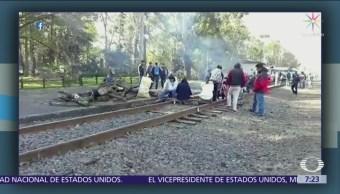129 trenes están parados en Michoacán por bloqueo de la CNTE
