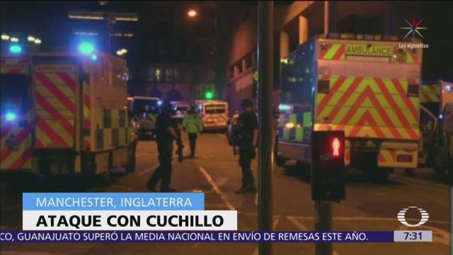 3 muertos por ataque con cuchillo en Manchester